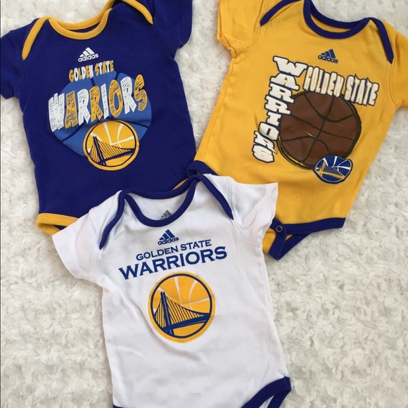 new product 97dc5 35975 Adidas 12M Baby Golden State Warriors Body Suits